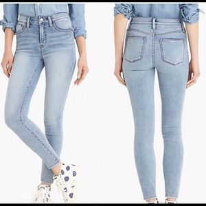 """J crew 9"""" HIGH Rise Toothpick Jeans;size 28•••"""